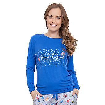 Cyberjammies 3888 Frauen Cristie blau Pyjama Pyjama Top