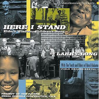 Larry Long - aqui eu Stand-presbíteros sabedoria [CD] EUA importação