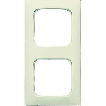 Busch-Jaeger 2 x Frame Duro 2000 SI lineaire crème-wit 2512-212K-101