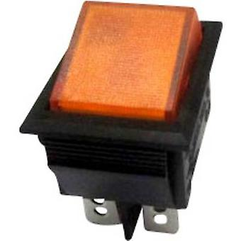 SCI Toggle switch R13-69B-01 YE 250 V AC 10 A 2 x Off/On latch 1 pc(s)