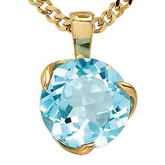 585 /-g-blå Topaz anheng smykker Blautopaz Topaz Topaz anheng 14 k gull