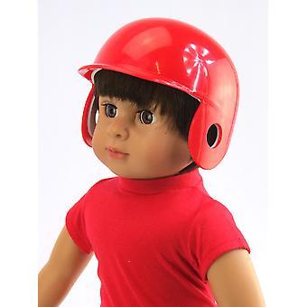 """18 """"κούκλα ενδυμασία κόκκινο κράνος μπέιζμπολ"""