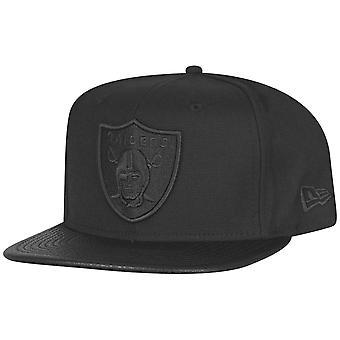New Era Snapback Cap - PU-LEDER SCHIRM Oakland Raiders