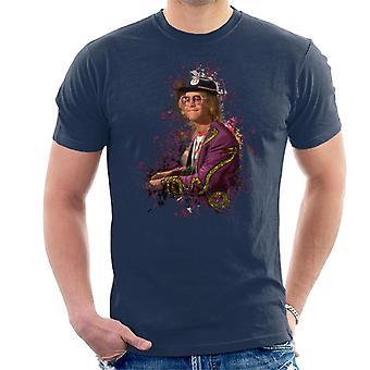 TV ganger Elton John på Piano menn t-skjorte