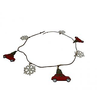 Traditional Retro Car Christmas Garland - Shoeless Joe