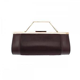 Renata Leather 3 In 1 Brown Clutch Bag