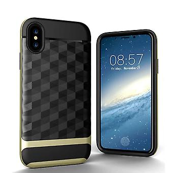 Black patterned case with gold details iPhone X/XS!