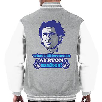 What A Difference An Ayrton Makes Men's Varsity Jacket