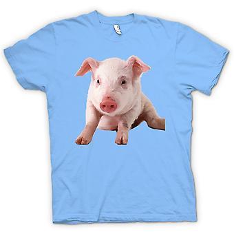 T-shirt dla dzieci-Cute Prosiaczka świni portret
