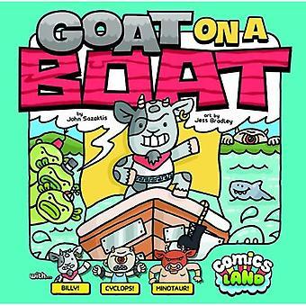 Ziege auf einem Boot
