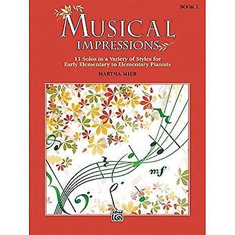Muzikale impressies, B.k. 1:11 solo's in een verscheidenheid van stijlen voor vroege elementaire aan elementaire pianisten