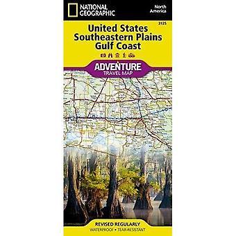 United States, Southeastern Plains And Gulf Coast Adventure Map