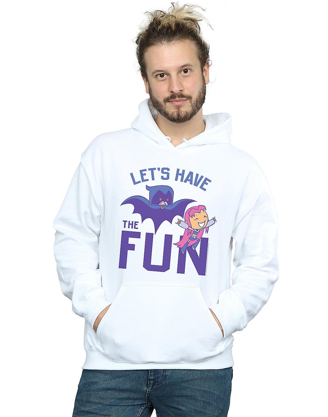 DC Comics Men's Teen Titans Go Let's Have The Fun Hoodie
