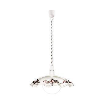 Eglo - Vetro montée et chute pendentif plafond finition blanche lumineuse EG3041