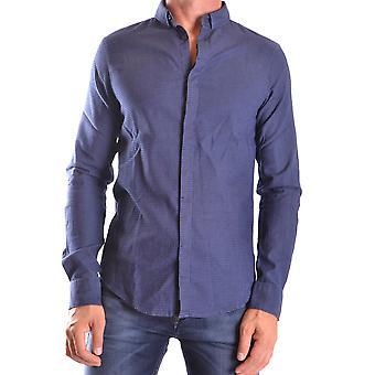 Armani Jeans Ezbc039029 Mænd's Blå Bomuldsskjorte