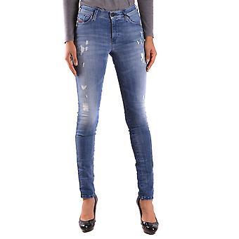 Diesel Ezbc065013 Kvinder's Blå Bomuld Jeans
