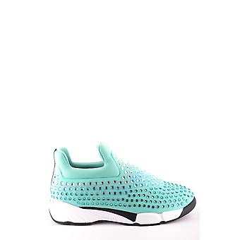 Pinko Ezbc056083 Kvinder's Lyseblå Nylon Slip På Sneakers