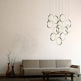 Hängande från tak Ring ljus hängande levande rum hemma Canopy Nickel 13 hänge ljus