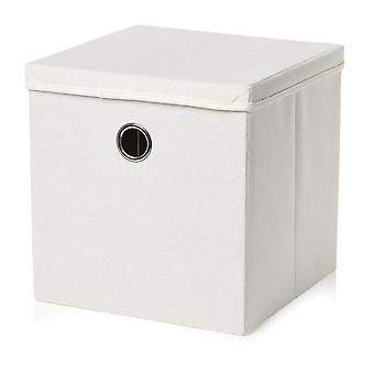 Country Club Weave Storage Box, Cream
