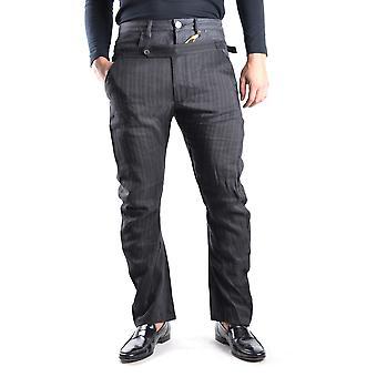 John Galliano Ezbc164058 Men's Grey Wool Pants