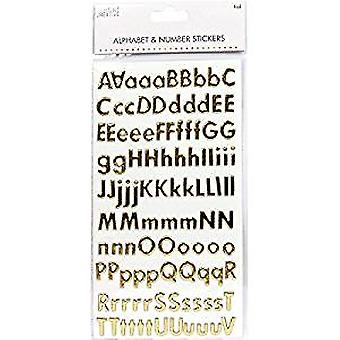 Simply Creative Alphabet & Number Stickers - Classic Foil Gold