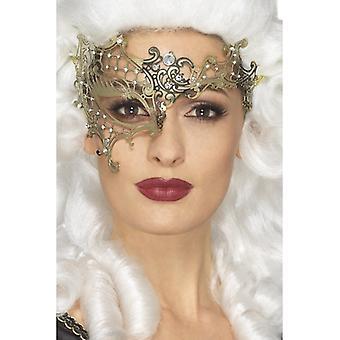 Deluxe μεταλλικό Φιλιγκρί μισό Eyemask