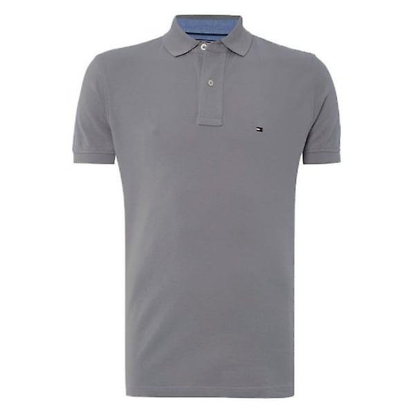 Tommy Hilfiger Polo Shirt Silver Filigree Regular Fit