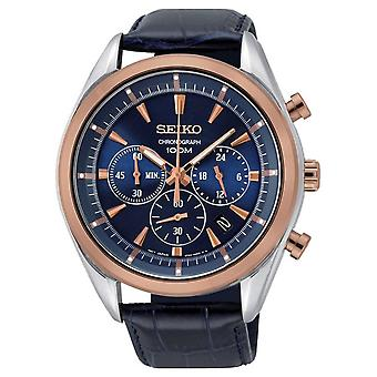 Seiko Quartz Ssb160p1 Chronograph Herren Watch 44 Mm