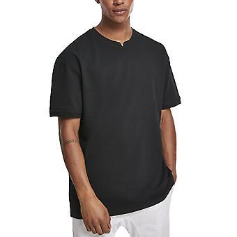 الكلاسيكية الحضرية - الملابس صبغ قميص بيكيه كبيرة الحجم أسود