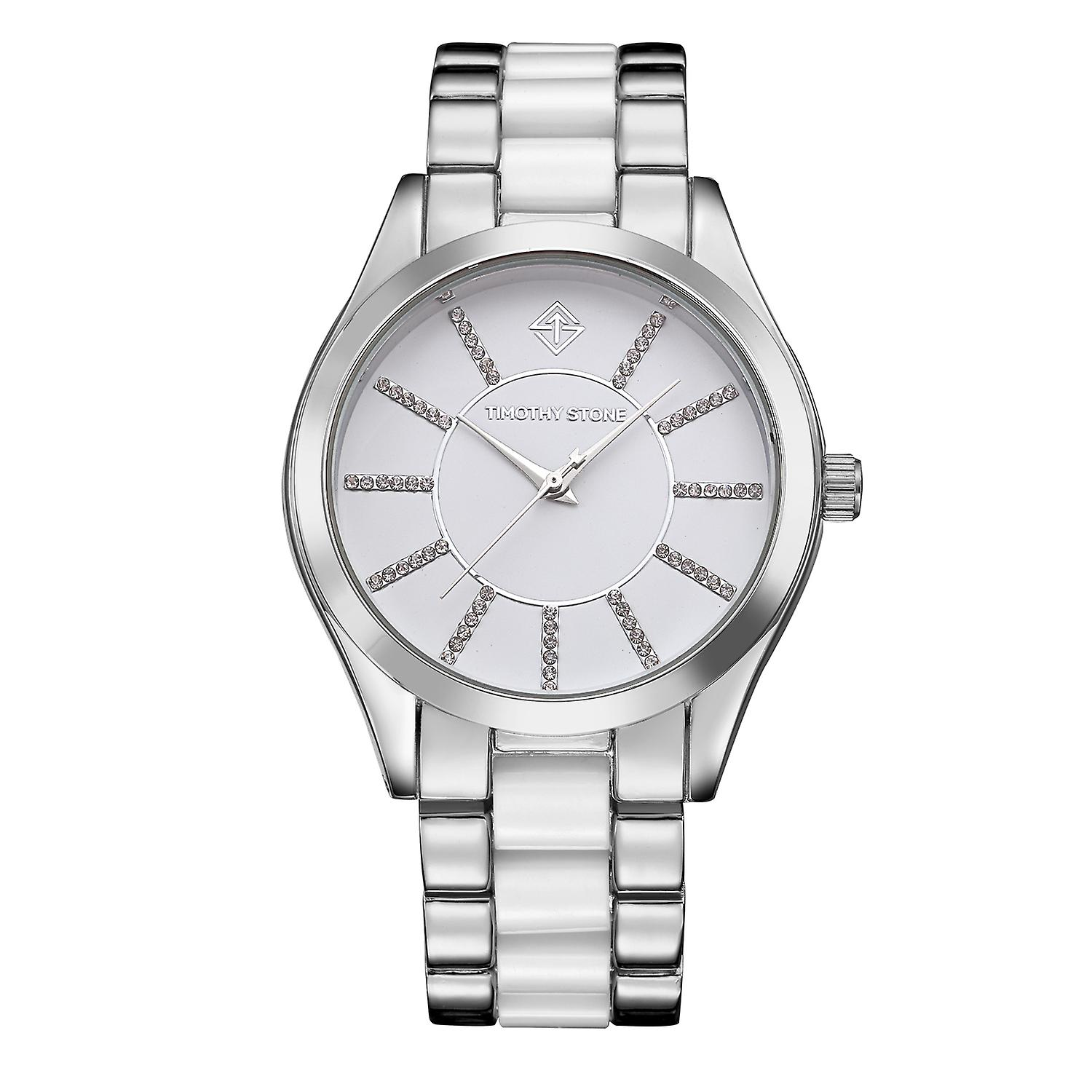 Timothy Stone Women's CHARME-BICOLOR Silver-Tone and White Watch