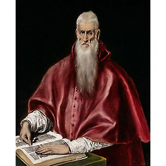 St. Jerome as a Cardinal, El Greco, 50x40cm