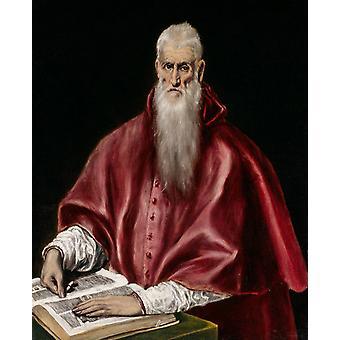 Hl. Hieronymus als Kardinal, El Greco, 50x40cm