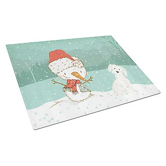 Maltan lumi ukko Christmas lasin leikkuu lauta suuri