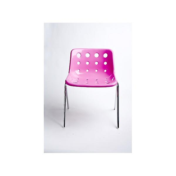 Loft Robin Day 4 Leg Bright Pink Plastic Polo Chair