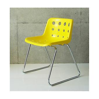 Loft Robin Day Sled Bright Yellow Plastic Polo Chair