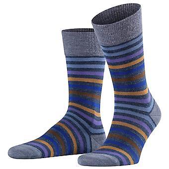 Falke tonet stripe sokker-storm grå/blå