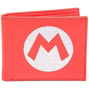 Nintendo portemonnee Super Mario geborduurde Logo officiële Red BW