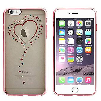 iPhone 6 Plus und 6 s Plus Fall Herzen Rose Gold - Backcover clear Bumper Look