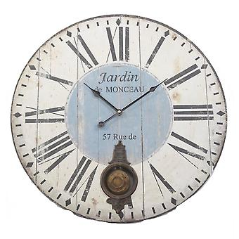 Heaven Sends Wood Pendulum Clock With Roman Numerals