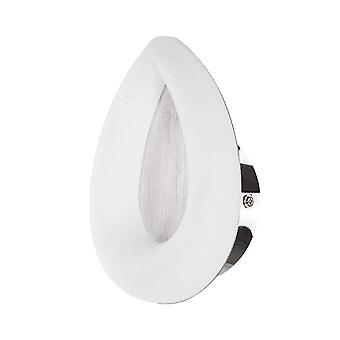 Mantra Juno Wall Lamp 5W LED 3000K, 450lm, Satin Aluminium/Frosted Acrylic/Polished Chrome, 3yrs Warranty