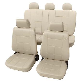 Cubiertas de asiento de coche beige elegante lavable para Audi A4 2000-2004