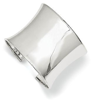 925 Sterling Silver Concave Polished 50mm Cuff Stackable Bangle Bracelet Jewelry Gifts for Women