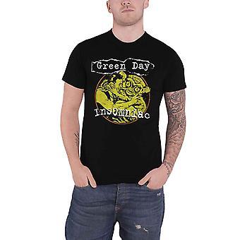 Green Day T Shirt Insomniac Free Hugs Band Logo new Official Mens Black