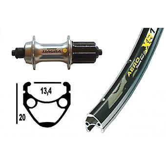 """אופניים-חלקים 28 """"גלגל אחורי Exal XR-1 + שימנו למיגרה 10/11-מהירות (QR)"""