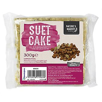 Natures Market Wild Bird Feed Suet Cake - Peanut Flavour Food