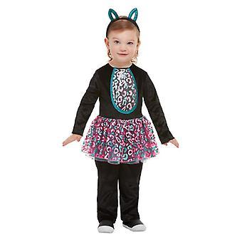 Batoľatá Halloween roztomilý mačka maškarný kostým