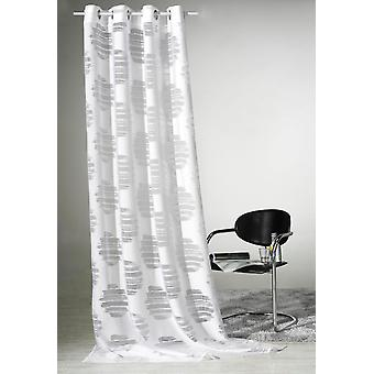 Weckbrodt 1x curtain Valea eyelet burnout white with metal release WxH 140x245 cm