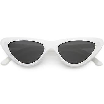 Women & apos;s الصغيرة سميكة القط العين النظارات الشمسية المستقطبة عدسة مسطحة 51mm