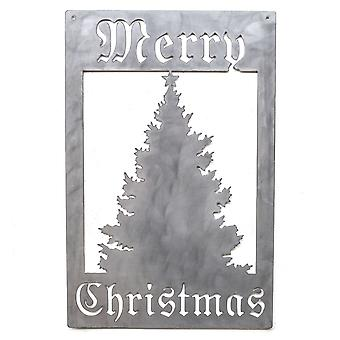 Merry Christmas Tree-Metal cut teken 22x14in