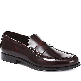 Polished leather loafer - sesey
